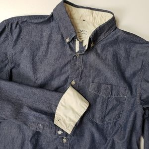 Rag & Bone Large L Mens Long Sleeve Chambray Butto
